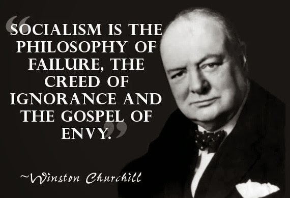 winston churchill quote, socialism failure