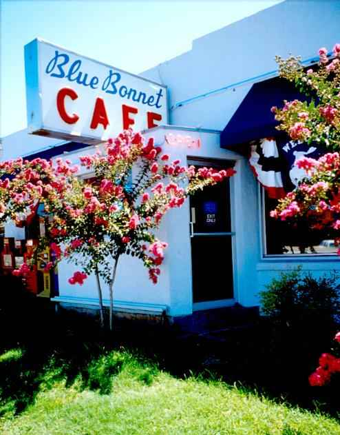 blue bonnet cafe, marble falls texas, john 3 16