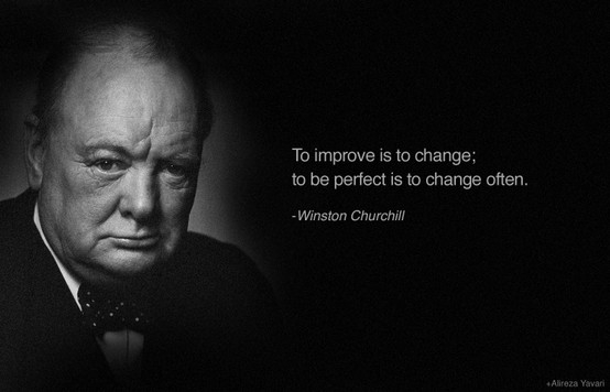 winston churchill quote, improvement
