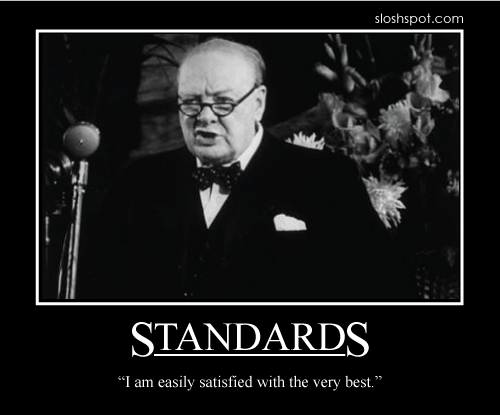 winston churchill quote, standards