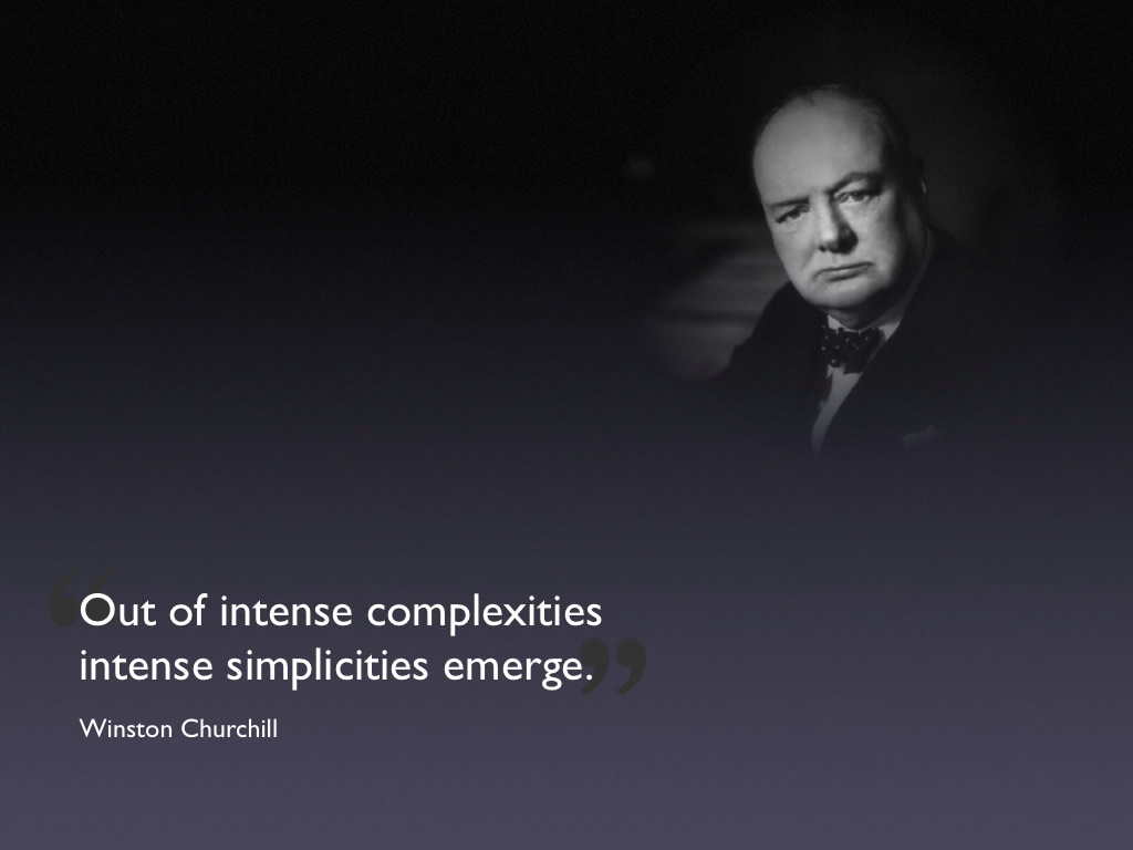 winston churchill quote, complexities