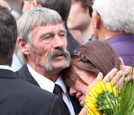 sad father, funeral picture, christian story, the son