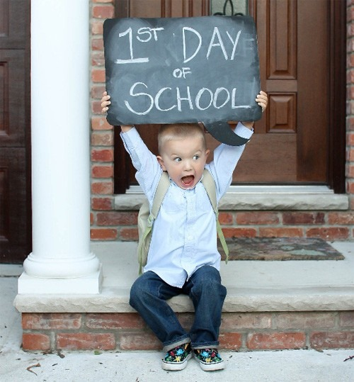 school begins, 1st day of school, starting education