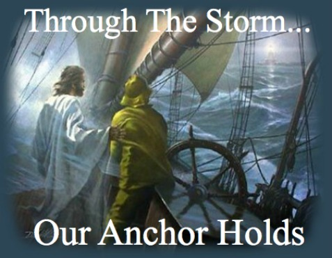 Hebrews 6:19,Through the storm, jesus, pilot, friend, guide, captain, a very present help in times of need
