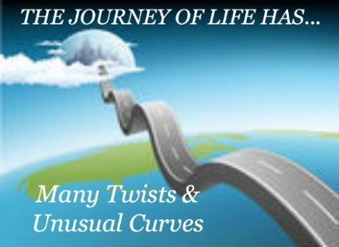 comfort & encouragement quote, life's twists and turns quote, road to the sky, life's road