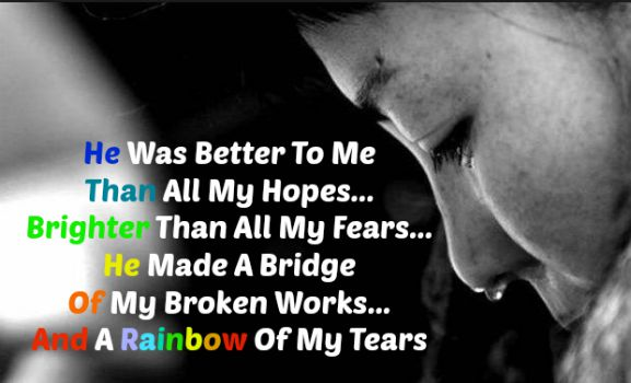 A Rainbow Of My Tears, Beauty For Ashes