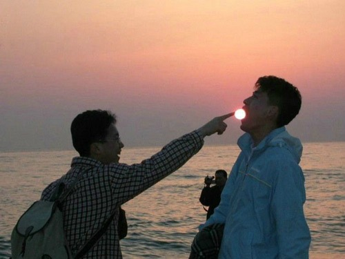 Funny Sunset picture, funny sunrise picture