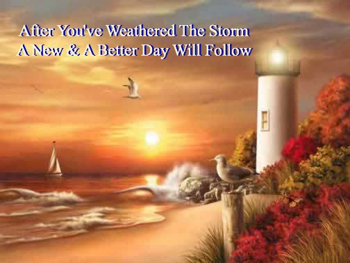 comfort & encouragement quote, light house, peace after the storm, quote, peace quote, lighthouse, sunset