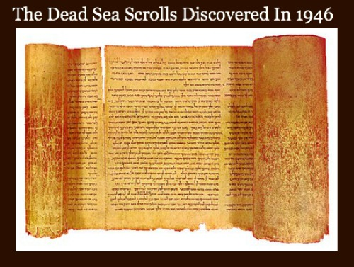 dead sea scrolls, found in 1946