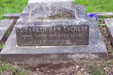 ELIZABETH ANN EVEREST, Churchill's Nanny, 1895, gravestone