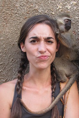 katie davis, monkey, funny, missionary