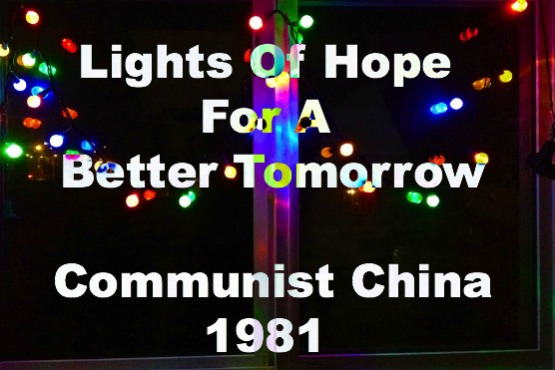 china witnessing, missionaries, christmas lights, hope, reaching China