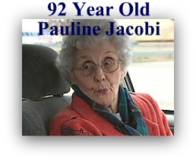 Pauline Jacobi, 92 year old grandmother that stood up to a thief