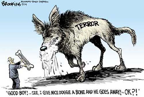 TERROR, APPEASEMENT, CARTOON