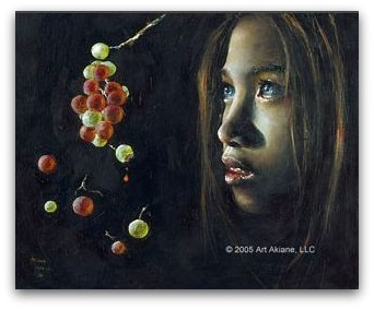 akiane, Forbidden Fruit, christian art, child prodigy