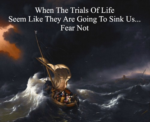 trials quote, jesus in the  storm, anchor holds, overcoming problems