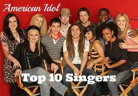 american idol top 10 singers