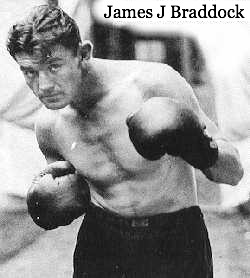 james j braddock, heavy weight champion, underdog, victoria from seeming defeat, great comeback