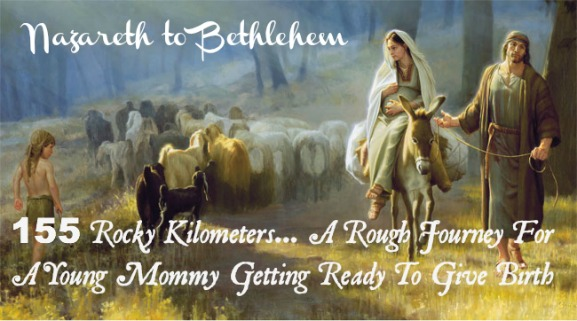 mary and joseph on the road to bethlehem