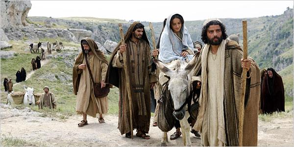 mary and joseph traveling to bethlehem