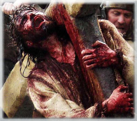 jesus carrying cross,