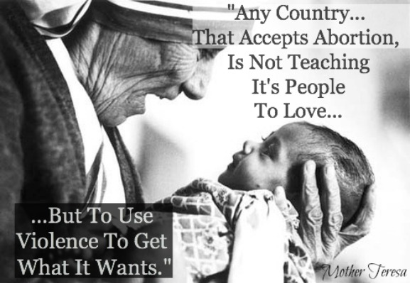 Mother Teresa Quote, Abortion Quote