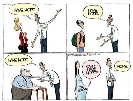 abortion cartoon, 0bama hope, funny