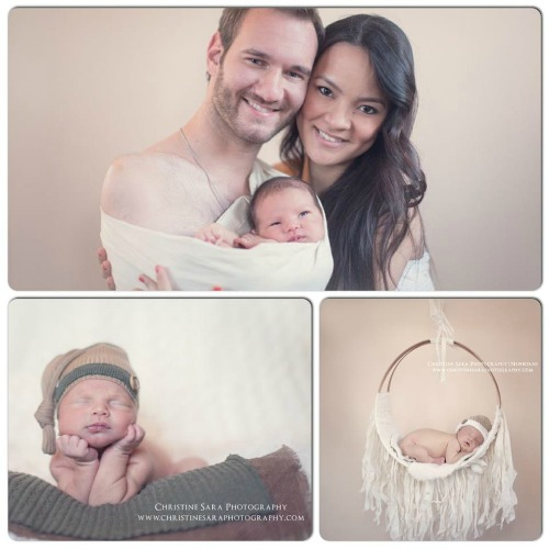 nick vujicic, kanae miyahara, new baby, life without limbs, no arms no legs no worries, overcoming