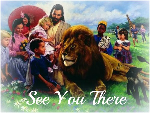 jesus and children, jesus and lion, heaven, hope of heaven,