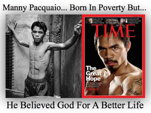manny pacquaio, overcoming poverty, quote