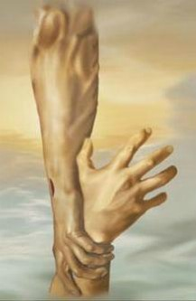 In His Grip, Jesus hands