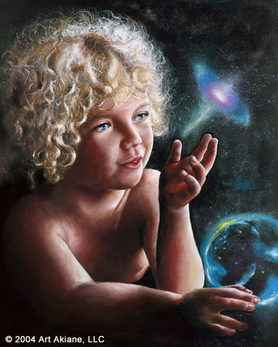 akiane, journey, christian art, child and stars, child and galaxy, child prodigy