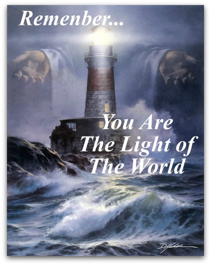 lighthouse, you are the light of the world, integrity quote