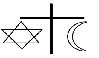symbols of judism, christianity and islam