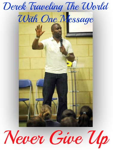 derek redmond, inspiring students, courage, never give up