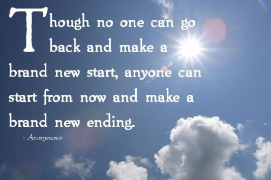 new ending quote, start again, victory quote