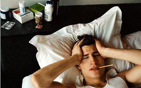 the flu, sick, cold, headache, pain, fever