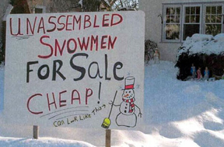 funny winter quote, funny snowman quote, funny cheap sale