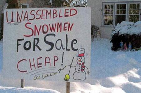 funny winter quote, funny snowman quote, funny cheap sale