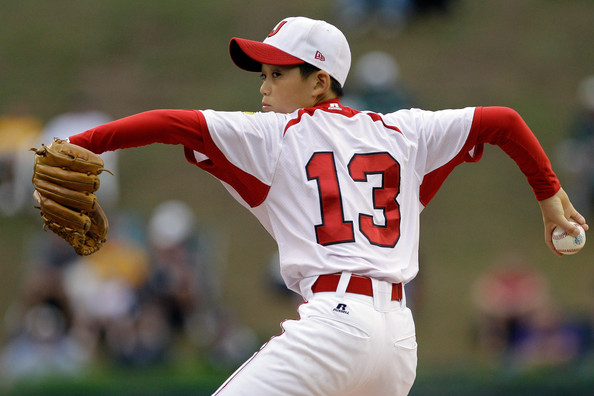 little league pitcher, #13, baseball