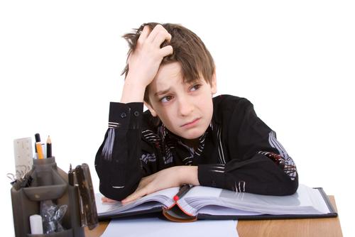 unhappy student, sad boy, failed test