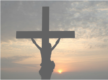 jesus on the cross, sunset, crucifixion