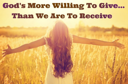 Gods Supply, He is more willing to give than we are to receive, our daily bread
