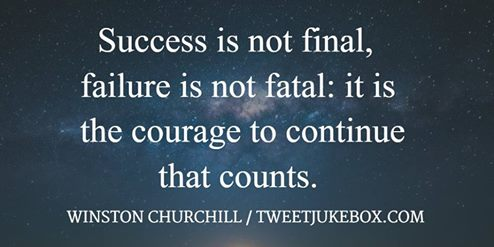 Success Is Not Final, Churchill Quote