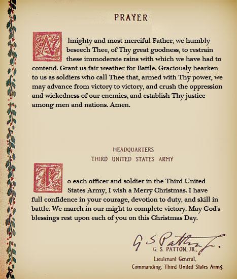 Pattons' Prayer