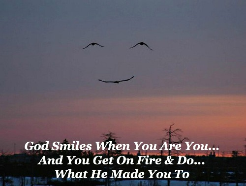god smiles quote, happiness quote, purpose