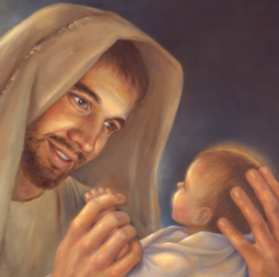 Joseph & baby Jesus, Adoption