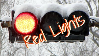 red lights, traffic lights