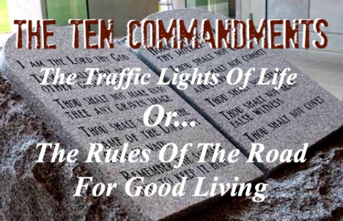 ten commandments, traffic lights of life