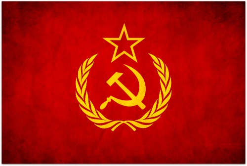 hammer and cycle, communism, flag